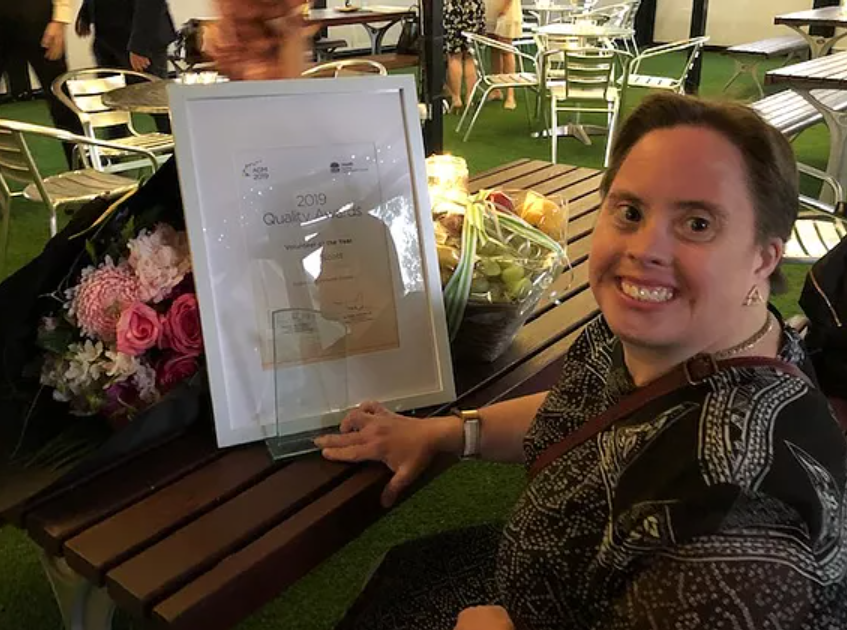 Kylie as 2019 Quality Award Winner for WSLHD